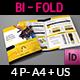 Hand Tools Products Catalog Bi- Fold Brochure Template