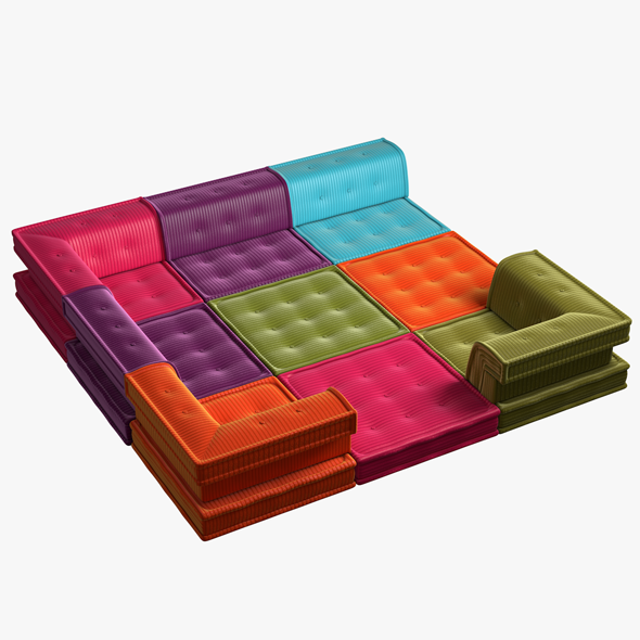 3DOcean Modular Sofa MAHJONG 20103244
