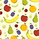 Seamless Background Pattern with Fruit