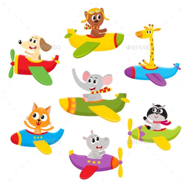 Little Baby Animal, Pet Characters Flying