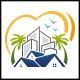 Beach Property Love Logo