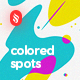 Abstract Multicolored Spots Backgrounds