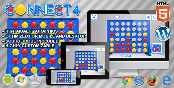 Connect 4 - HTML5 Logic Game