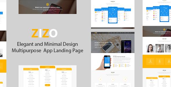 Zizo - Responsive App Landing Page