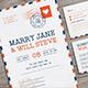 Airmail Wedding Invitation