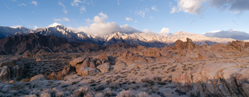 California Alpine Panoramic Alabama Hills Sierra Nevada Range CA