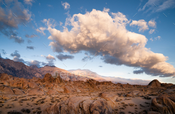 Golden Rocks Alabama Hills Sierra Nevada Range California