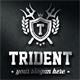 Trident Crest Boutique Luxury Logo Emblems