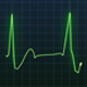 Green Heartbeat Monitor