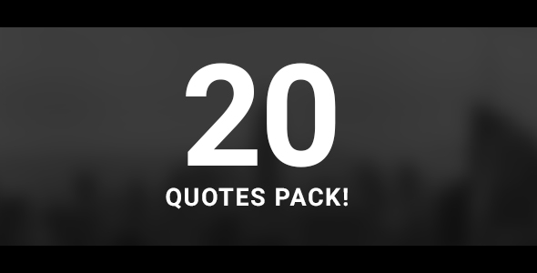 20 Quotes Pack