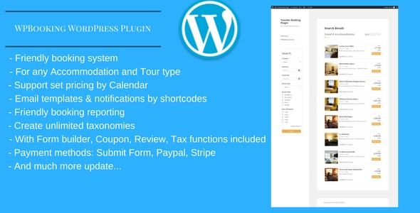 WPBooking – Accoomodation and Tour booking system – WordPress Plugin (WordPress) images