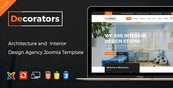 Decorators Joomla Template For Architecture Amp Modern