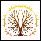 Grunge Tree Sun Logo
