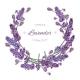 Lavender Flowers Wreath