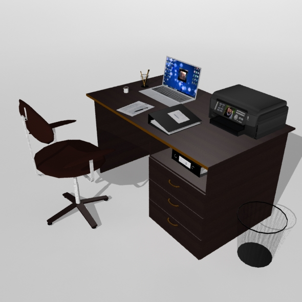3DOcean Office Table With Attributes 20109980