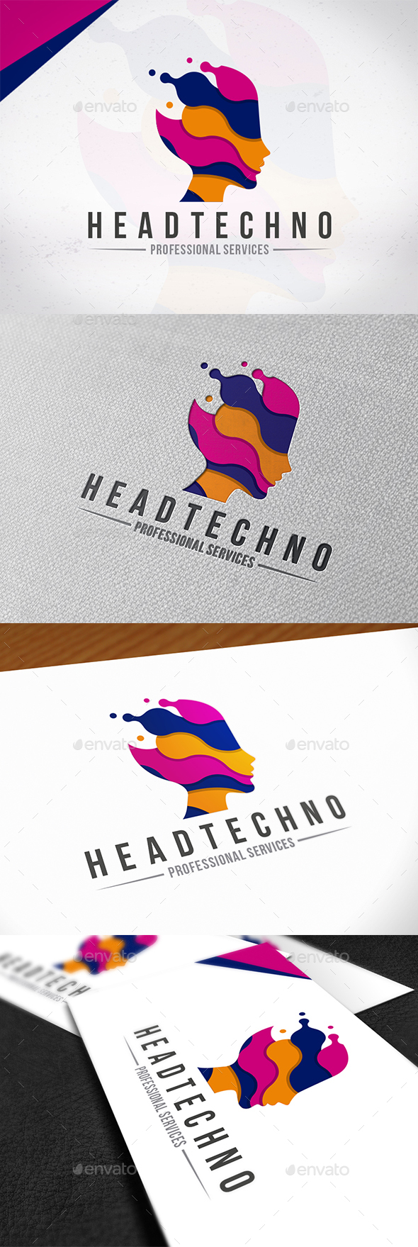 Technology Head Logo Template
