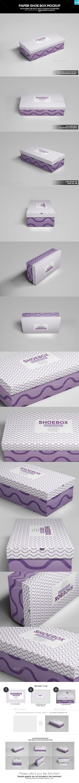 Paper Shoe Box Mockup