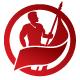 Revolution Patriotic Flag Man Logo