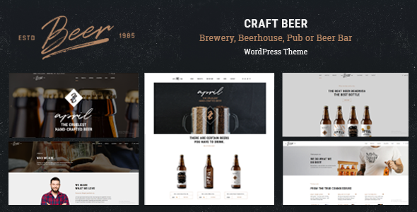 Download Craft Beer - Brewery or Pub WordPress Theme