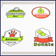 Charity Logo Vector Badges Set