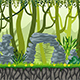 Seamless Jungle Landscape with Separate Layers