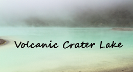 Foggy Volcanic Crater Lake