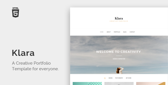 Klara - Minimal Creative Portfolio