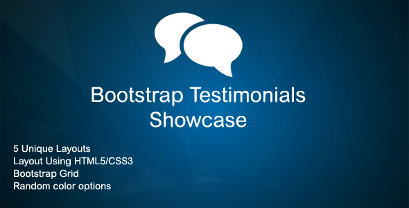 Download Bootstrap Testimonials Showcase