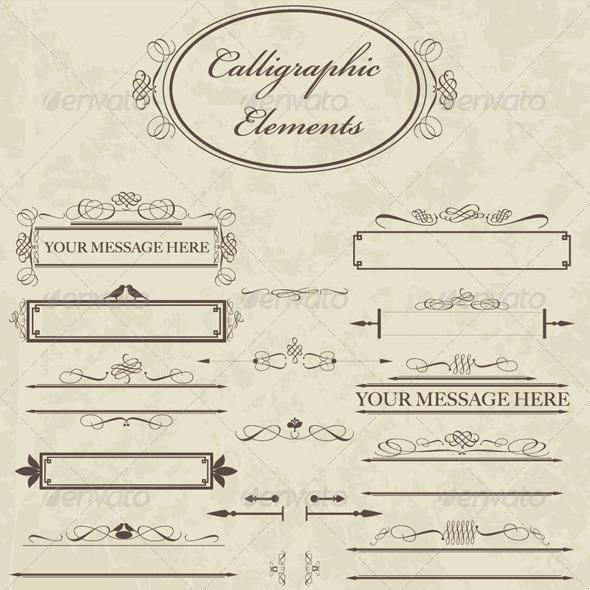 GraphicRiver Calligraphic Elements 1968792