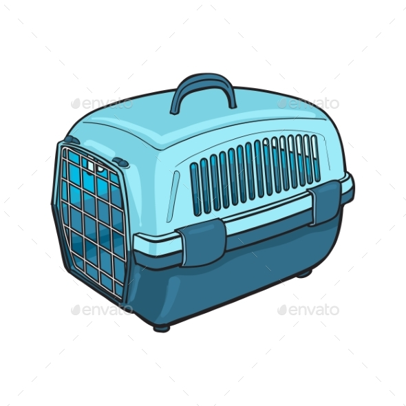 Plastic Pet Travel Carrier for Transporting Cats