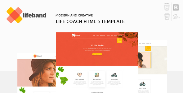 Lifeband - Coaching Business Responsive HTML5 Template