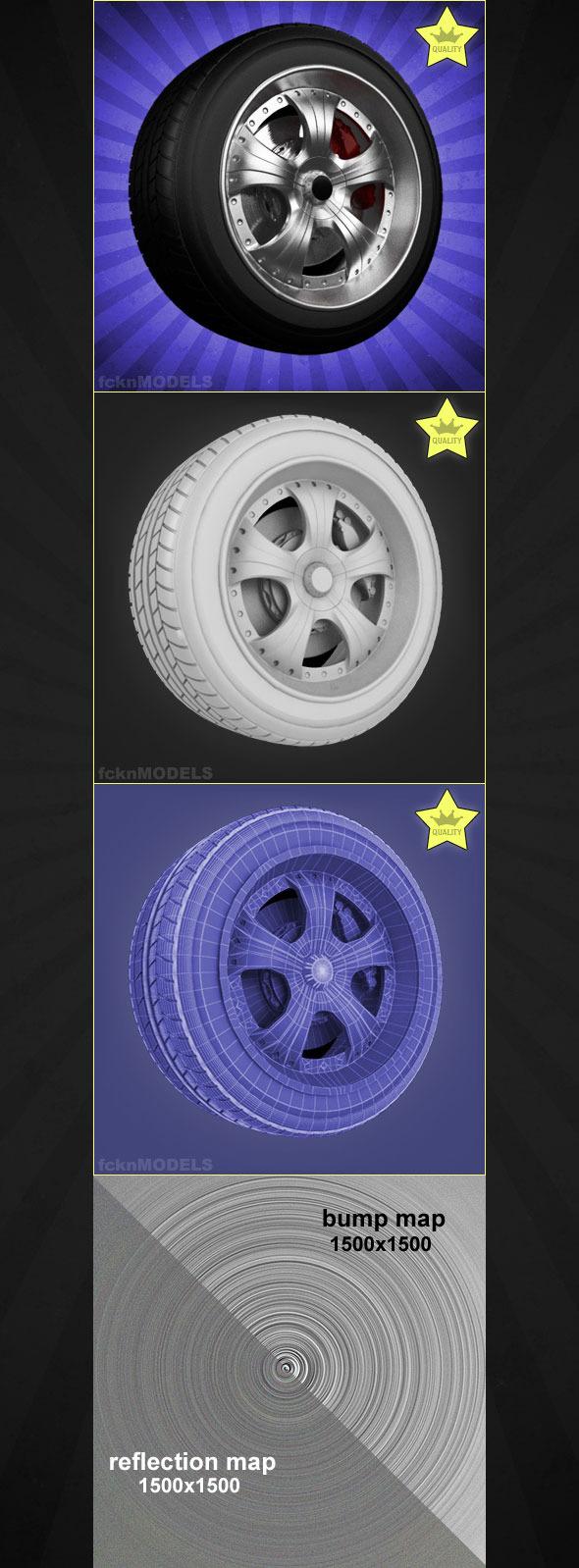 3DOcean High detailed 3D model of car wheel 03 1968798