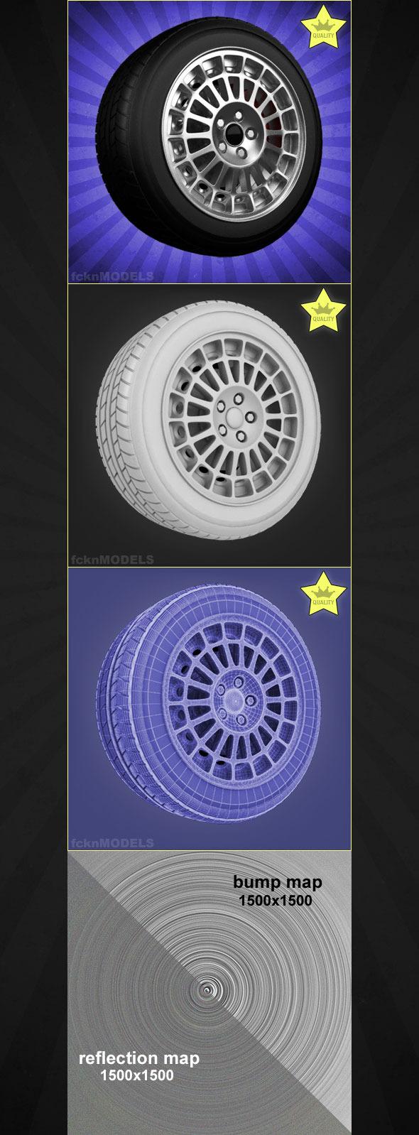 High detailed 3D model of car wheel 07