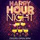Happy Hour Night Flyer