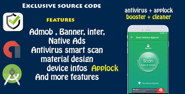 CodeCanyon Antivirus & Applock & Booster & Cleaner 20114663