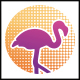 Flamingo Dots Logo