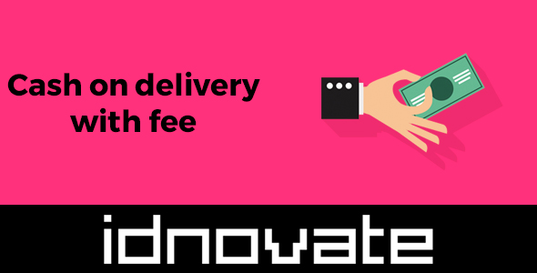 Advanced cash on delivery with fee / surcharge