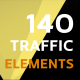 140 Traffic Icons and Elements