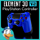 PlayStation Controller for Element 3D