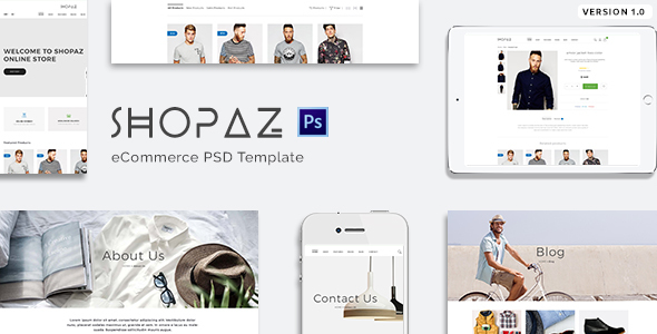 Shopaz - eCommerce PSD Template
