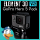 GoPro Hero 5 Pack for Element 3D
