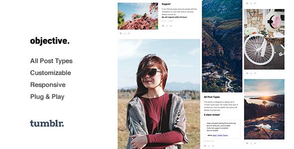 Objective | Photo Grid Tumblr Theme
