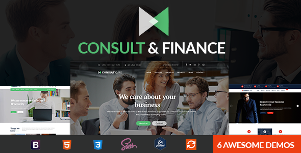 Finance & Consult - Business Consulting , Finance & Professional Services HTML Template