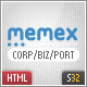 Memex Business + Portfolio + Blog Template - ThemeForest Item for Sale