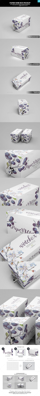 Paper Wine Box Mockup