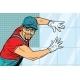 Worker Builder Puts Tile