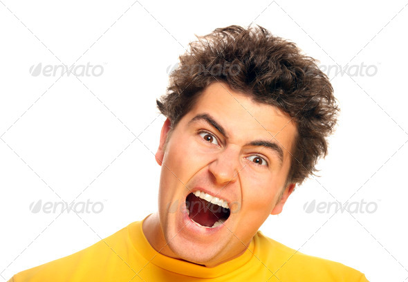 Angry man - Stock Photo - Images
