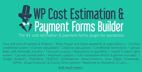 خرید WP Cost Estimation & Payment Forms Builder