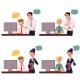Boss Managing Employee Working on Computer