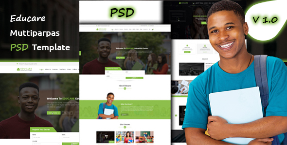 Educare Education PSD Template
